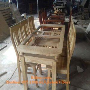 Bộ bàn ghế ăn gỗ sồi Nga- BA01