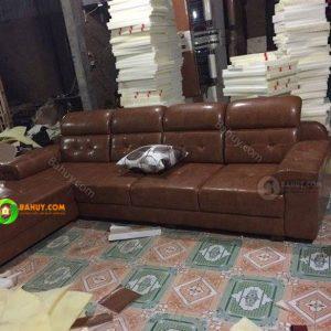 Thanh lý sofa da nâu giá tốt