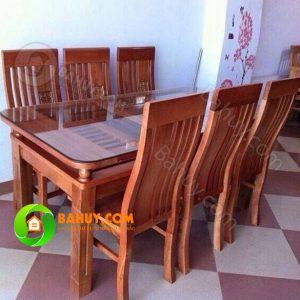 Bộ bàn ăn gỗ xoan tự nhiên BA1