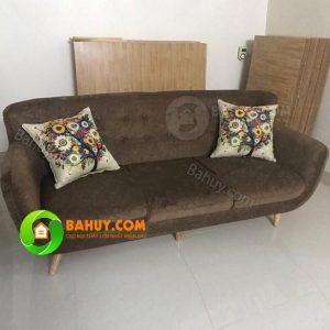 Sofa văng nỉ 1,8m màu nâu, giá cực rẻ